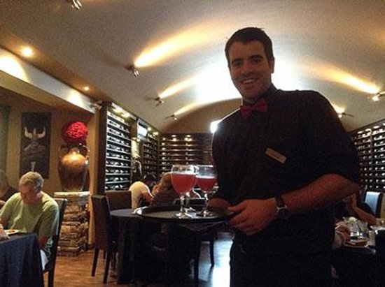 Chatham Breakfast House-Churrascaria Steak House: Stephen offers complimentary drinks