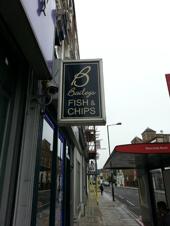 Baileys Fish and Chips: Hidden on a quiet street...