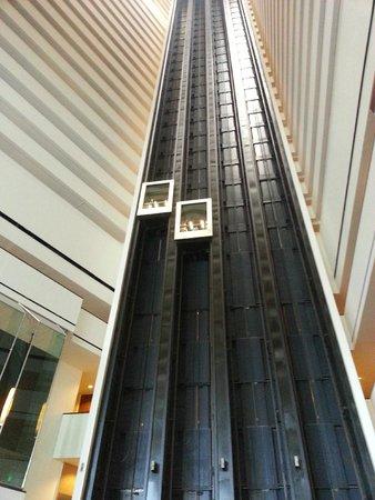 Hyatt Regency Houston: Elevadores Panoramicos no Lobby do Hotel