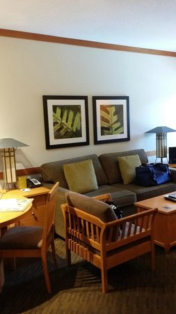Pan Pacific Whistler Mountainside : Living Room area