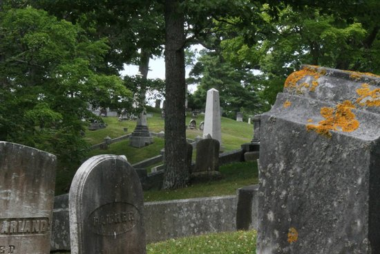 Mount Hope Garden Cemetery: from the top of the hill