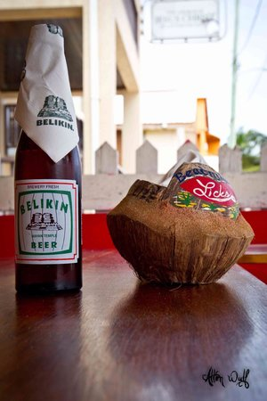 Doc'ks Tiki Bar & Grill: A Beliken and our coconut ashtrays