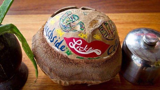 Doc'ks Tiki Bar & Grill: Our coconut ashtrays