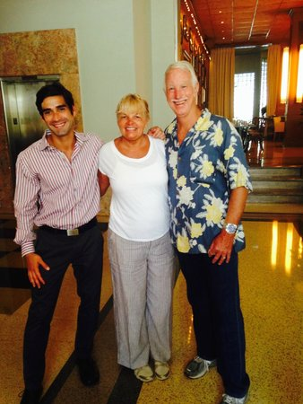 The Raleigh Miami Beach: Fernando with Bill & I as we were ending our stay.