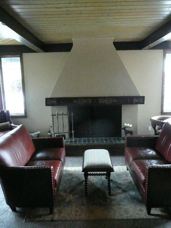 The Nordic Inn : Fireplace, gathering area