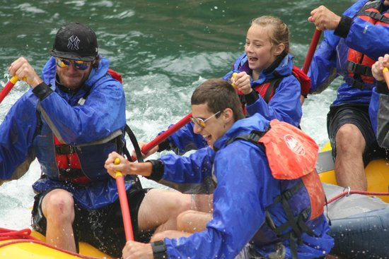 Glacier Raft Company: Our 3 kids having a blast!