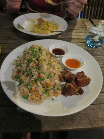 HUNGRY BEAR at Angkor Night Market: Hungry Fried Rice with Pork Belly