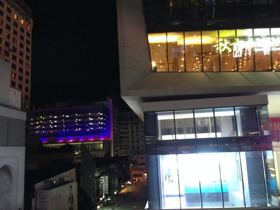 Novotel Bangkok on Siam Square: Taken from BTS Station.  Siam Square 1 and hotel.
