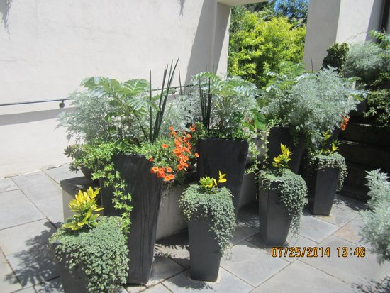 Chanticleer: Planters artfully arranged
