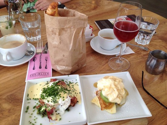 "Freiblick Tagescafe: Frühstück ""Lagerfeld""... Gebäck im Gebäcksackerl!"