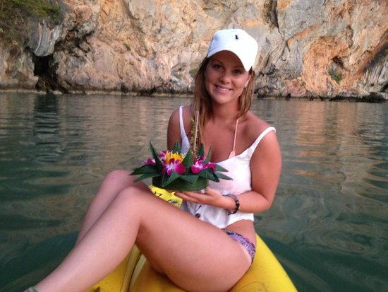 John Gray's Sea Canoe : Stacey with our offering