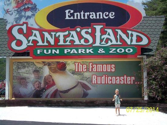 Santa's Land: Entrance Sign