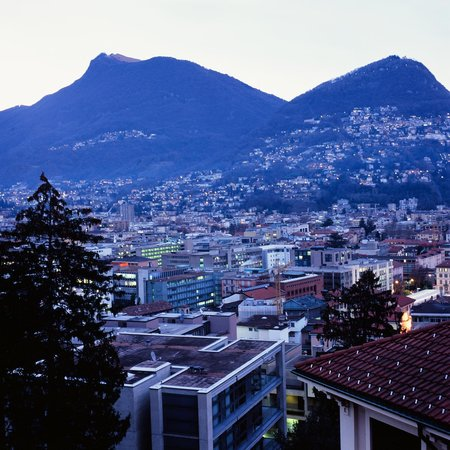 Hotel Federale : And the early evening dusk descending on Lugano