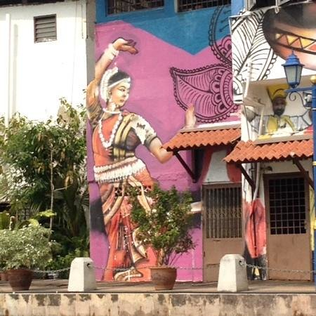 Malacca River: colourful mural