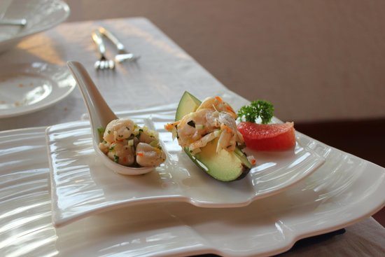 Club Med Ixtapa Pacific: Appetizer at the Luna Azul