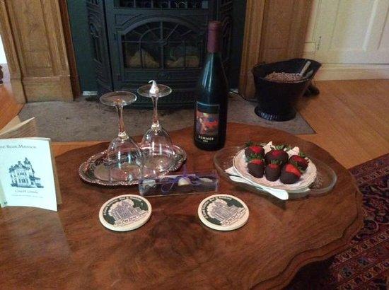 Ann Bean Mansion B&B: Welcome snacks