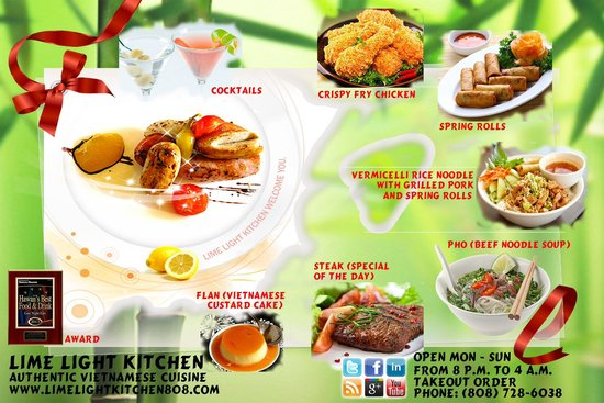 our restaurant banner picture of lime light kitchen honolulu