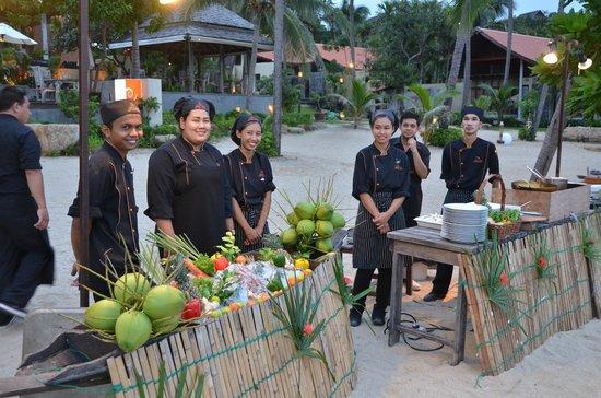 New Star Beach Resort: Saturday night BBQ