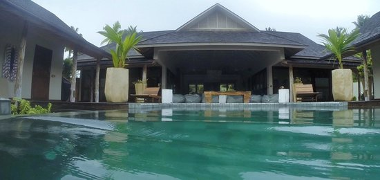 Desroches Island: View from the pool at the Lodge