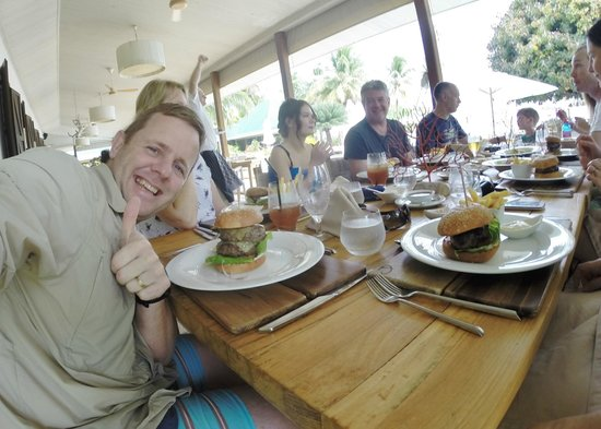 Desroches Island: The Best Burger EVER!