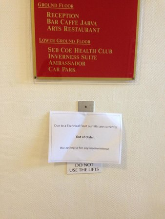 Mercure Inverness Hotel: lift out of order