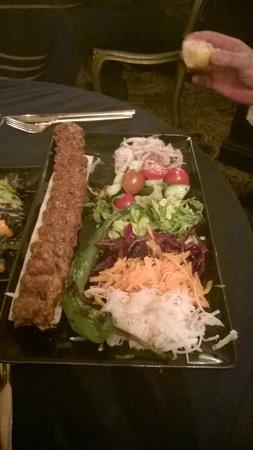 Sheesh at Ye Olde Kings Head: Adana kebab