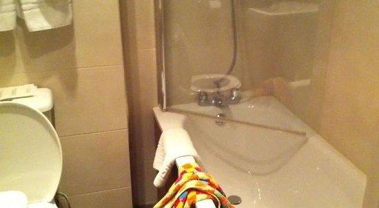 Royal Eagle Hotel: Détail d'une chambre de bain de l'hôtel. Un petit entretien serait le bienvenu...