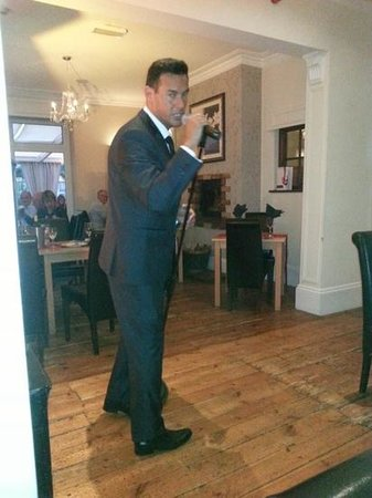Beeches Restaurant: buble stars at The Beeches