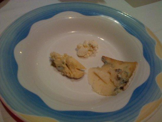 Restaurante Penalba: plato de quesos asturianos