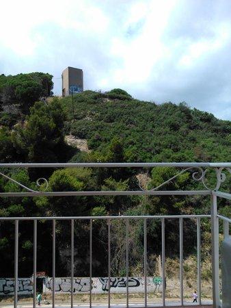 Hotel Catalonia: Вид на холм