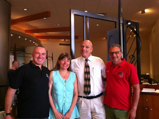 Dan Eilat: We and Mr. Jean-Marc Benninghaus (the giant with tie)