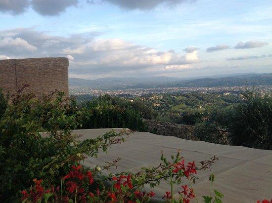 Villa Le Rondini : vue sur Florence