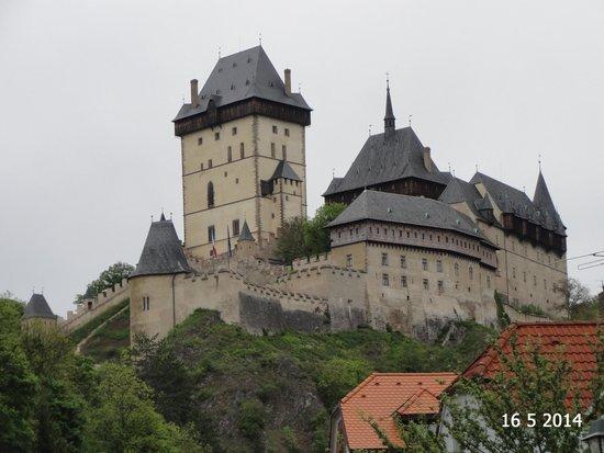 Karlstejn Castle: As seen from the village