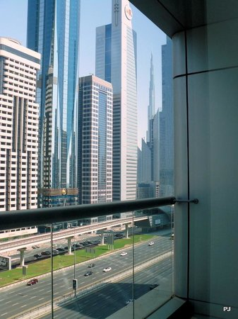 Four Points by Sheraton Sheikh Zayed Road, Dubai: View from room with Burj al Arab in the background