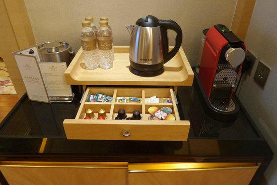 Galaxy Hotel: Coffee maker & tea selection
