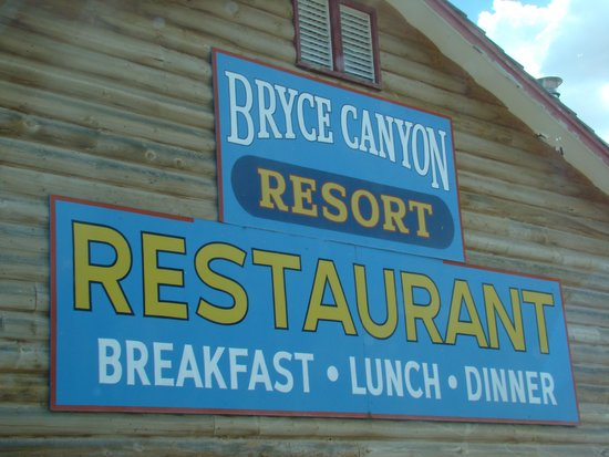 Bryce Canyon Resort: Restaurant Sign
