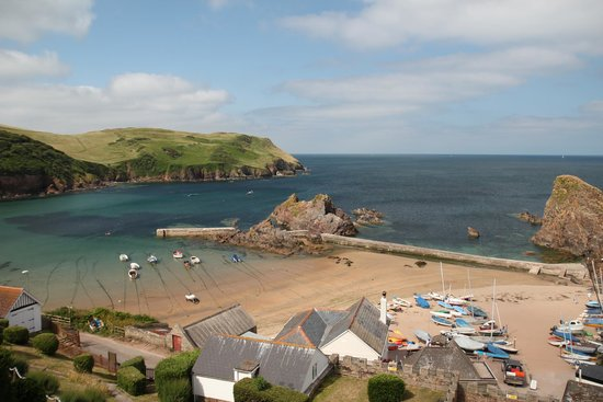 Hope Cove Beach: View from our room