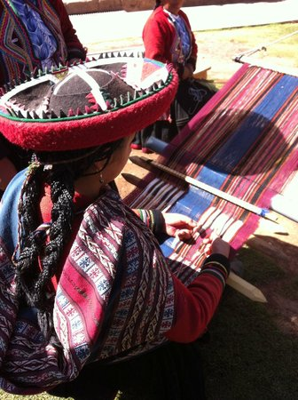 River Explorers: Traditional weaving Chinchero in the Sacred Valley.