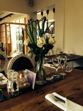 Falmouth Bay Seafood Café : Table set for 4