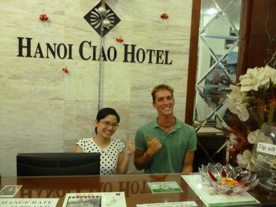 Hanoi Ciao Hotel: Staff and me