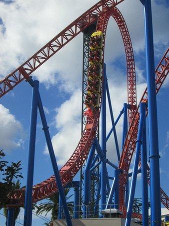 superman escape roller coaster movieworld picture of