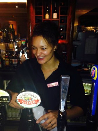 Aztec Hotel & Spa Bristol: lydia the fabulous bar lady