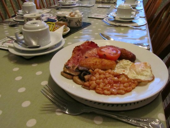 The Donnington Guesthouse: Full cooked English breakfast