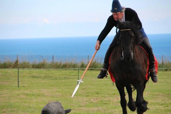 """Scarborough Castle: Hunting a """"boar"""""""