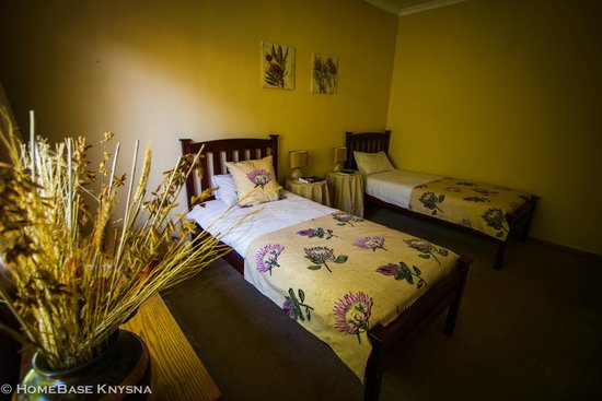 HomeBase Knysna : Our Twin-ensuite room, The Protea Room!