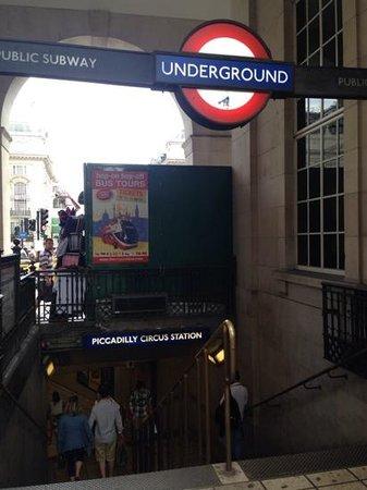 London Underground: underground entrance July 2014