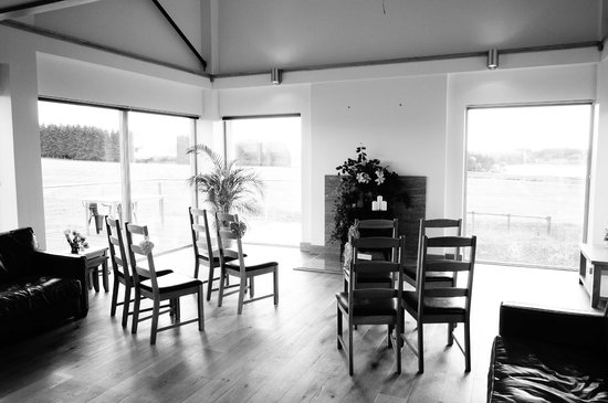 Crosswoodhill Farm Holiday Cottages Near Edinburgh: Living space altered for ceremony