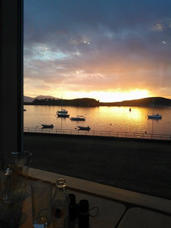 The Temple Restaurant: view from the Seafood Temple restaurant's window seat, Oban bay
