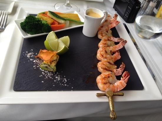 Restaurant Balances: The grilled prawns