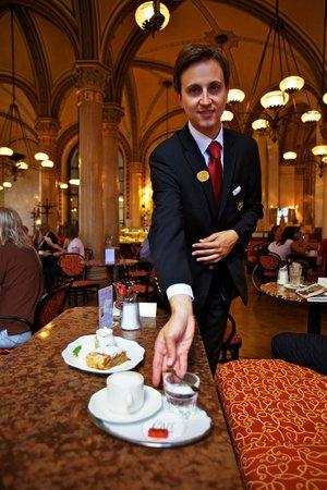 Cafe Central : Café Central waiter